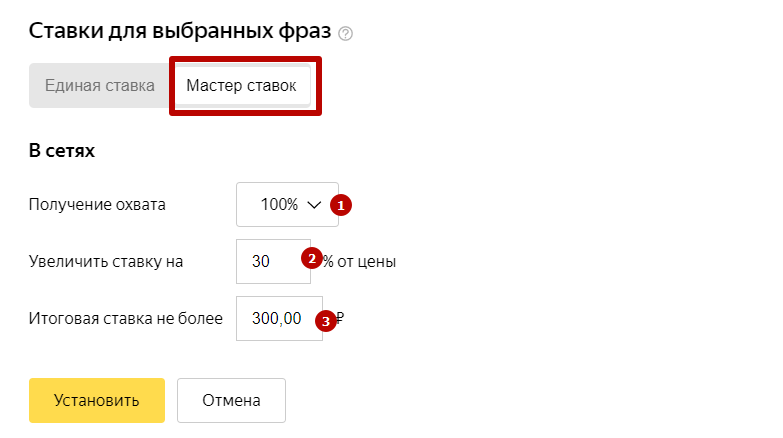 Управление ставками в Яндекс.Директе – мастер ставок
