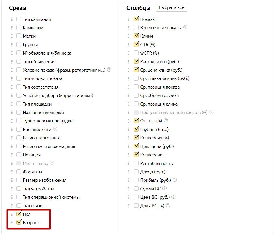 Как снизить стоимость заявки в Яндекс.Директе – отчет по демографии
