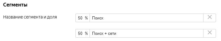Эксперименты в Яндекс.Директе – пример разделения на сегменты