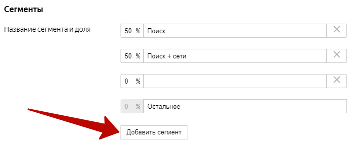 Эксперименты в Яндекс.Директе – добавление новых сегментов