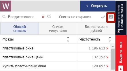Подбор ключевых слов в Яндекс.Директе – настройки списка фраз
