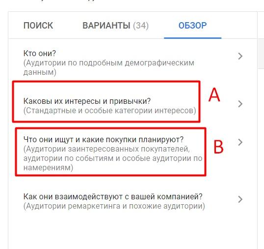 Правильная схема рекламы в КМС Google – аудитория по интересам и аудитория по намерениям