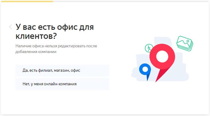 Реклама в Яндекс.Картах – информация об офисе