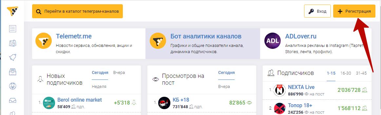 Реклама в Telegram – регистрация в Телеметре