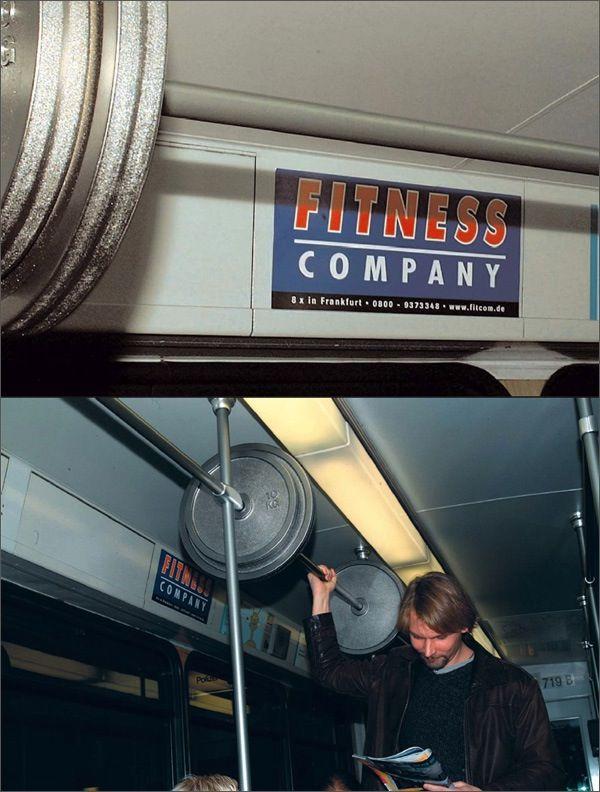 Креативная реклама – фитнес