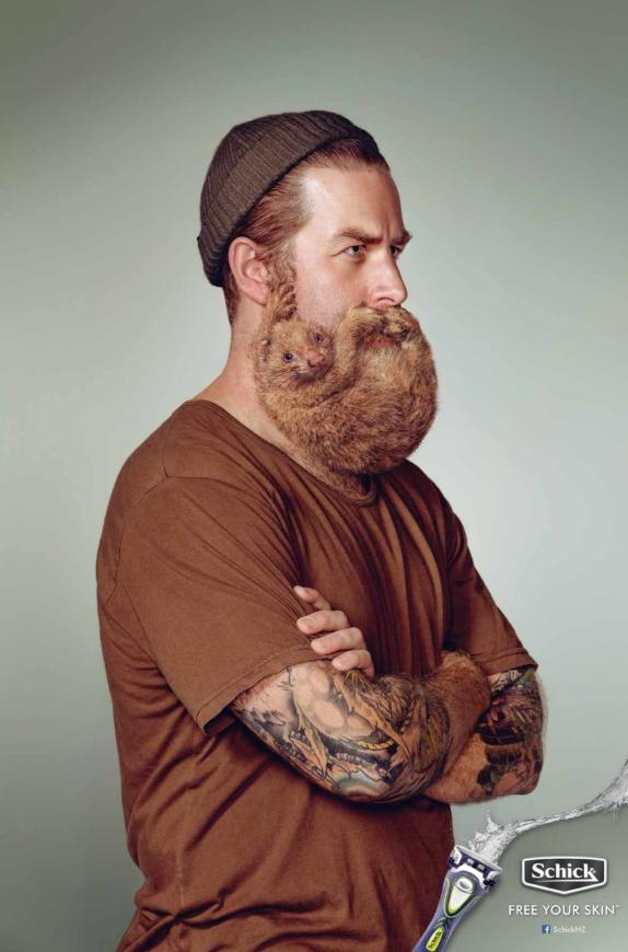 Креативная реклама – средства для бритья