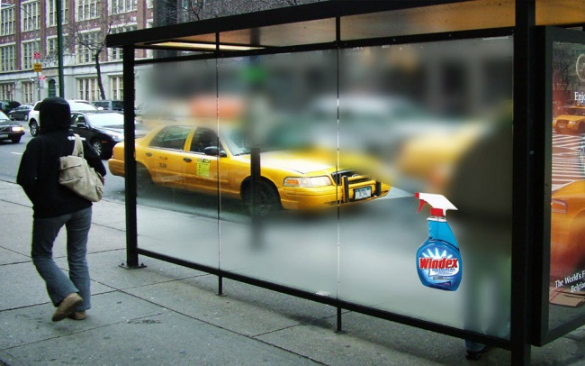 Креативная реклама – стеклоочиститель