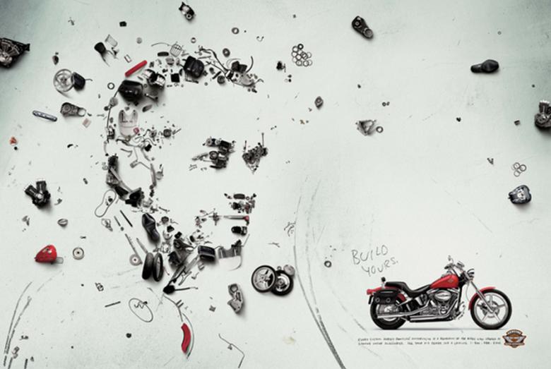 Креативная реклама – мотоциклы на заказ