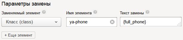 Аналитика звонков в Яндекс.Директе – параметры замены