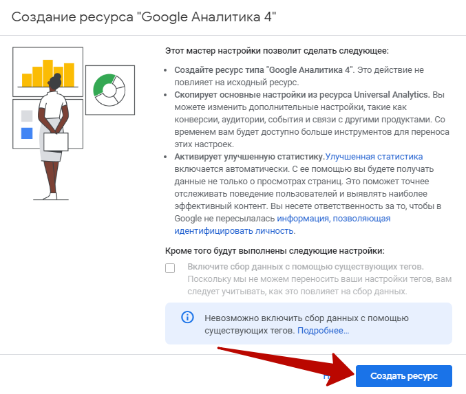 Google Analytics 4 – создание ресурса GA4