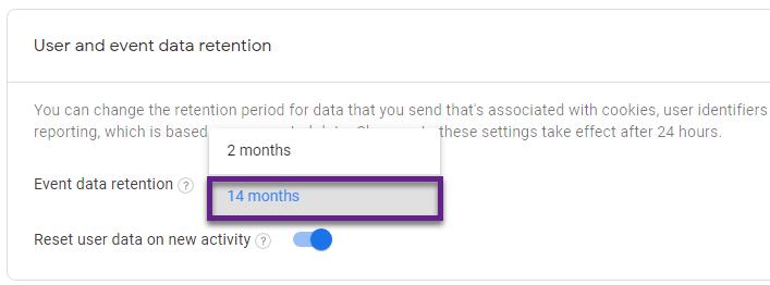 Google Analytics 4 – период данных в GA4