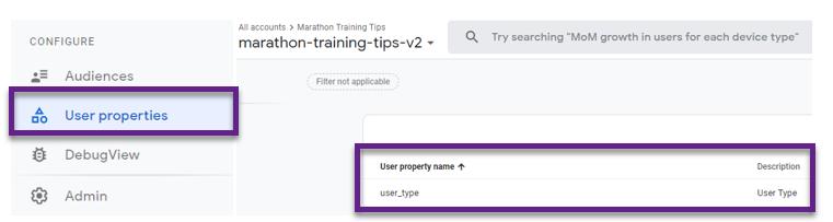 Google Analytics 4 – свойства пользователей для событий