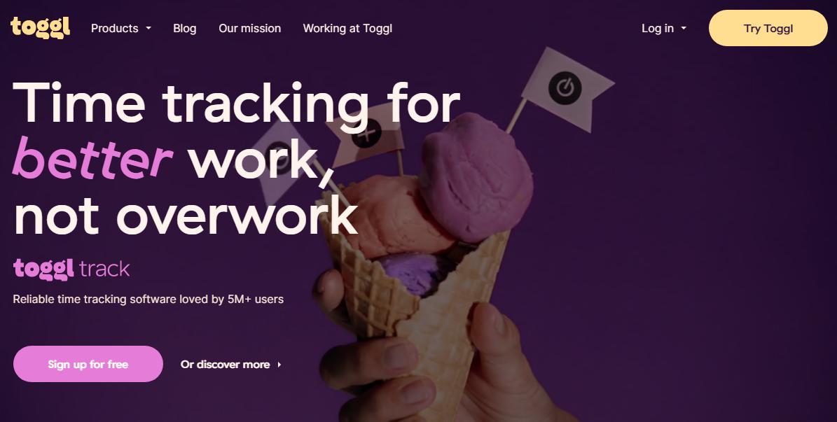 Повышение продуктивности – Toggl