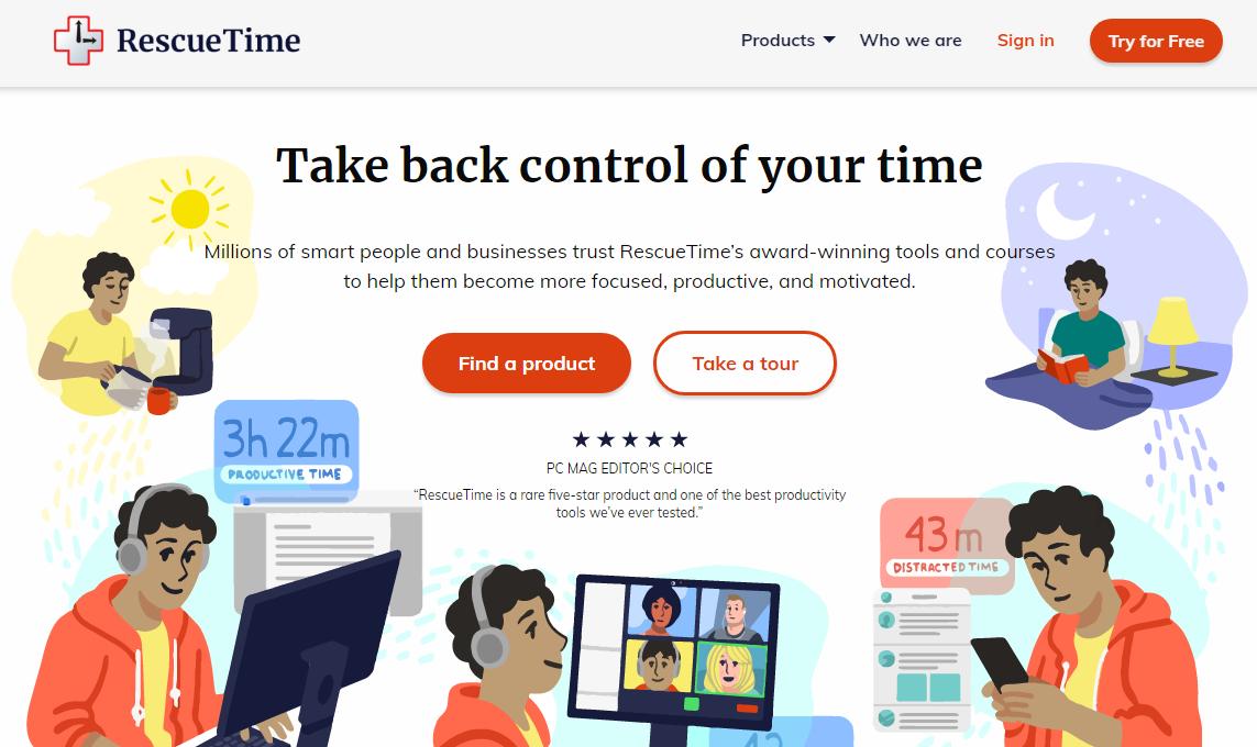 Повышение продуктивности – Rescue Time