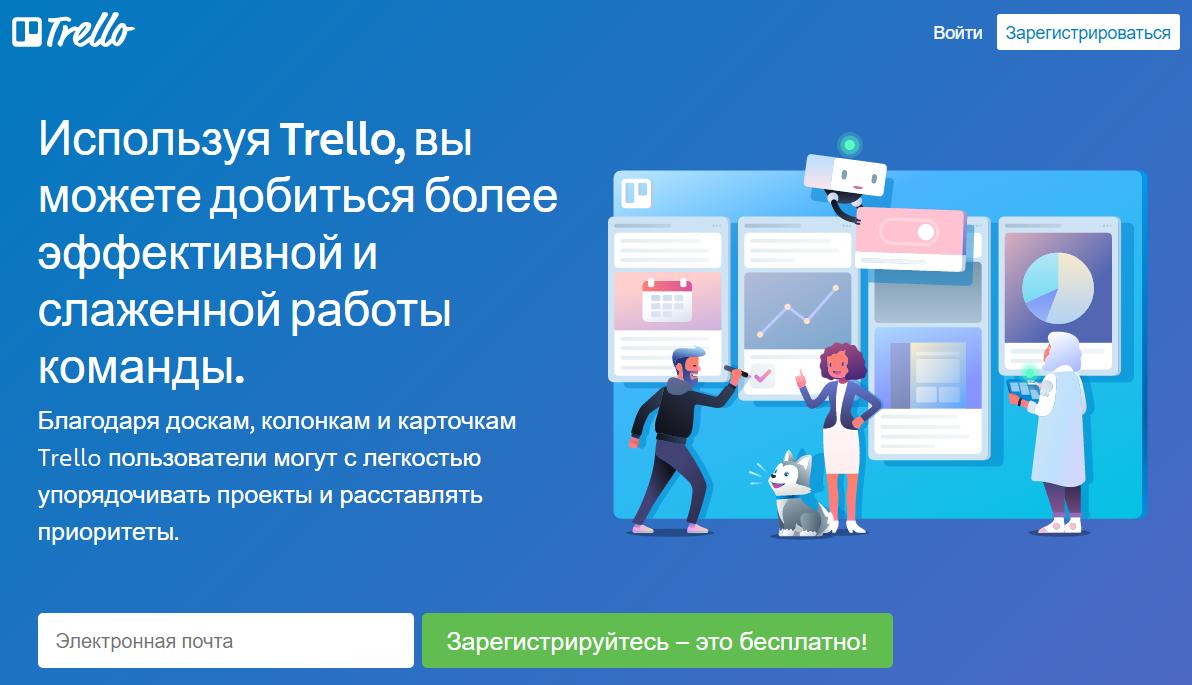Повышение продуктивности – Trello