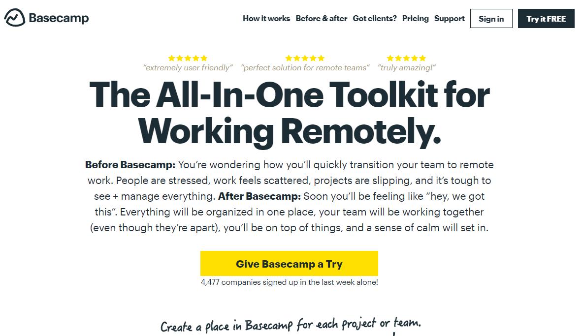 Повышение продуктивности – Basecamp