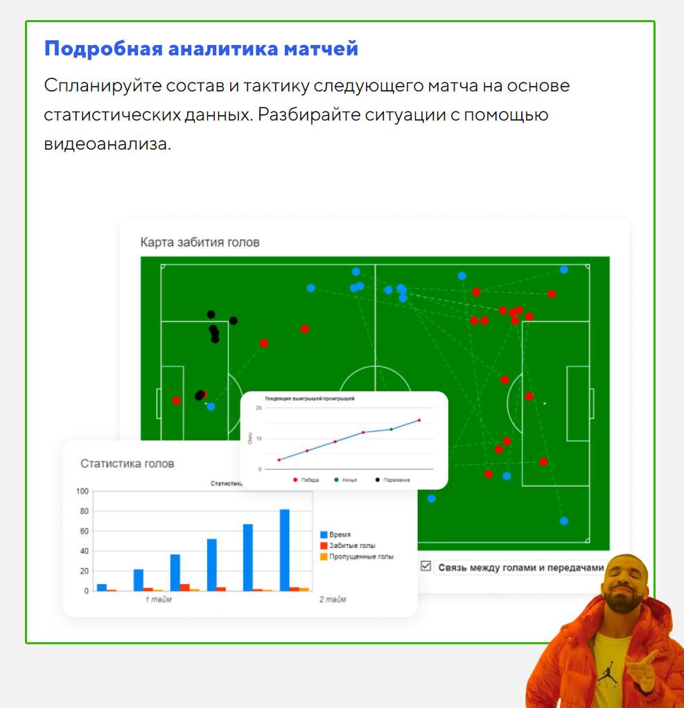 Как сделать первый экран лендинга – финальная визуализация для платформы детских футбольных школ