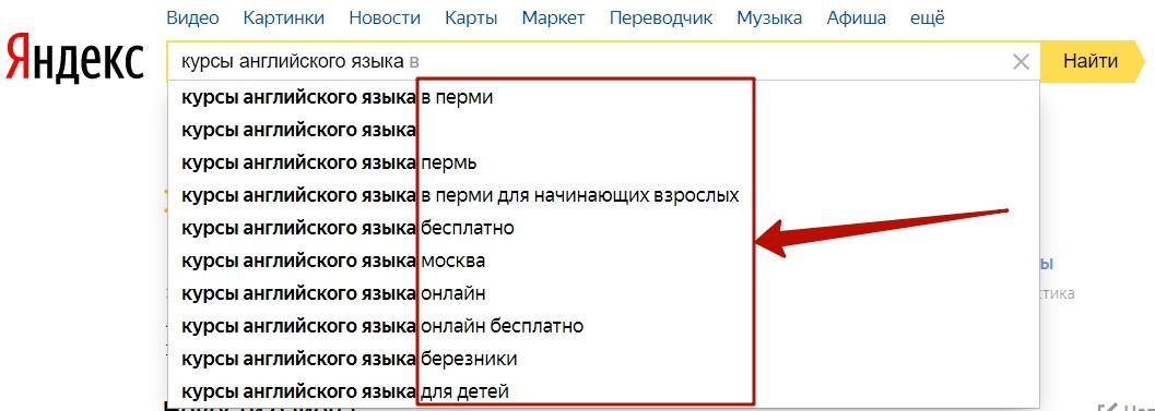 SEO оптимизация – подсказки Яндекса и Google