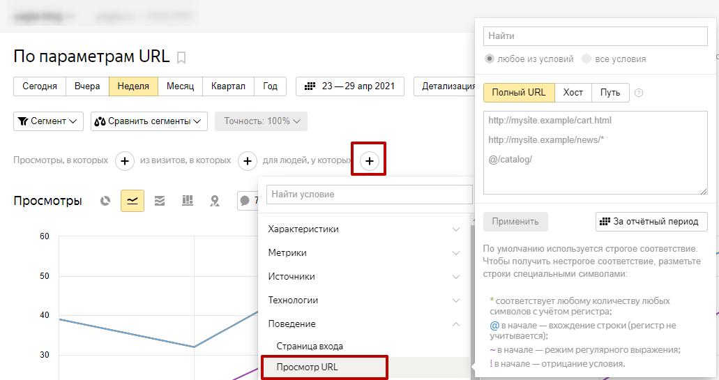 Яндекс.Метрика новые цели – настройка отчета