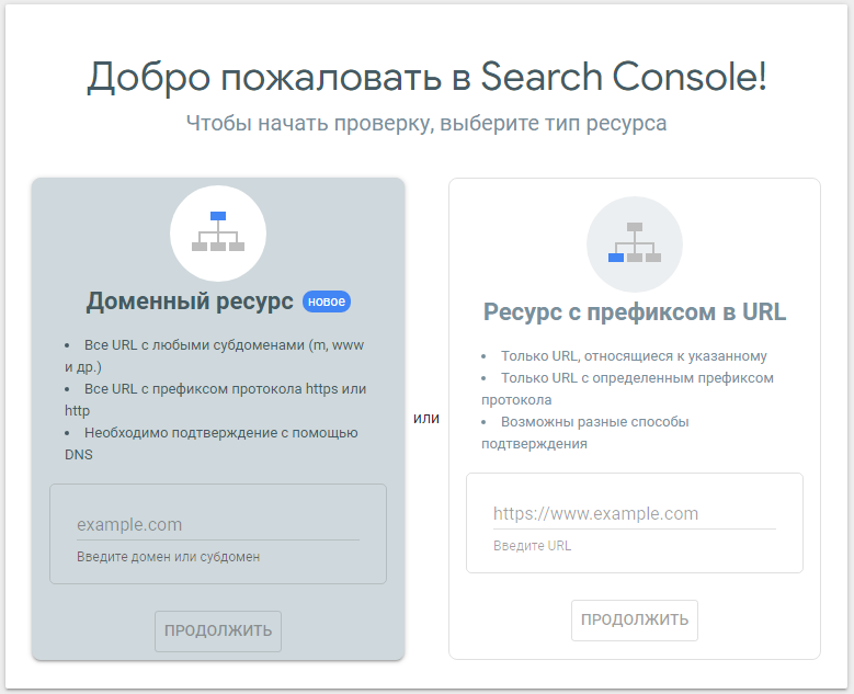 Google Search Console – начало работы с Search Console