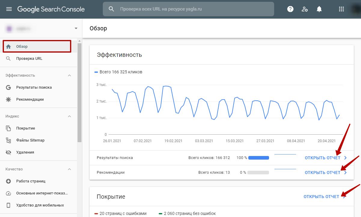 Google Search Console – обзор