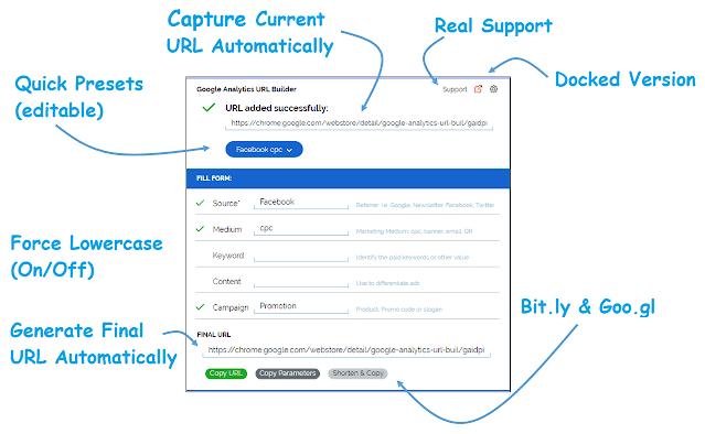 Расширения для браузеров – Google Analytics URL Builder