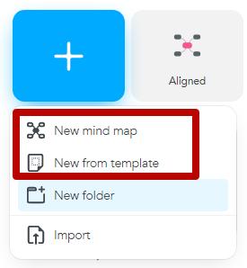 Интеллект-карты – кнопка создания карты в MindMeister