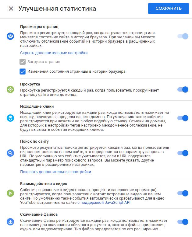 События в Google Analytics 4 – настройки улучшенной статистики
