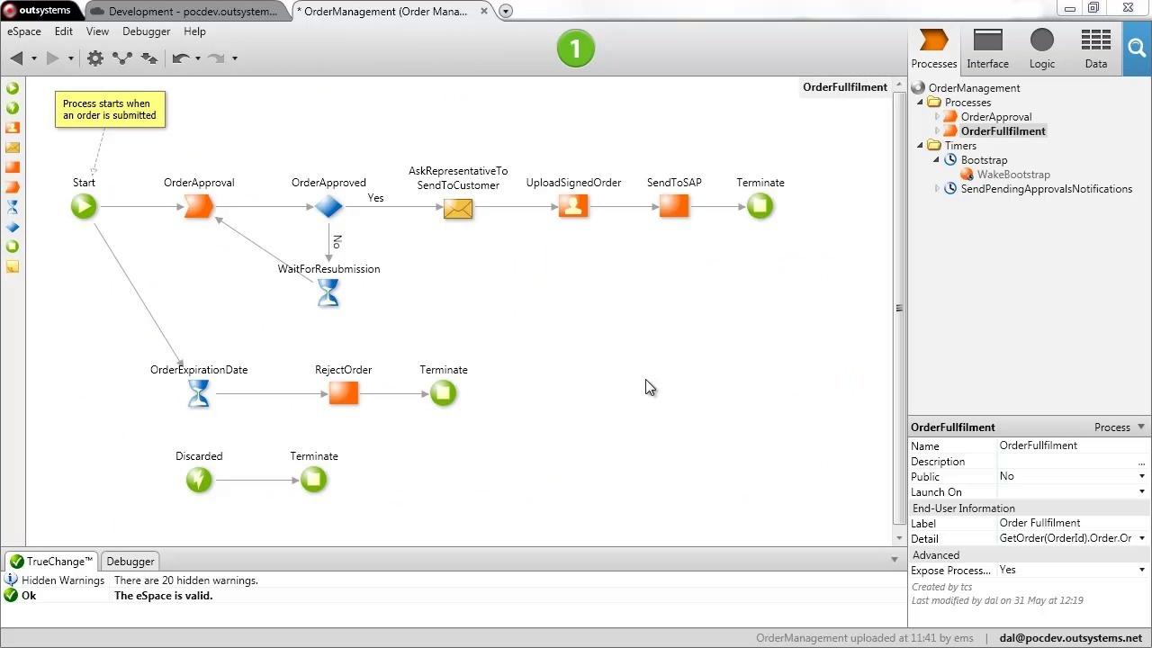 Пример того, как выглядит приложение Outsystems