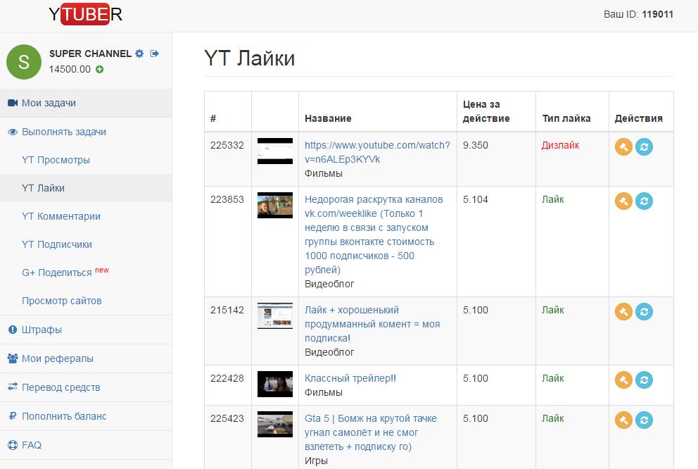 Сервис накрутки просмотров YouTube Ytuber