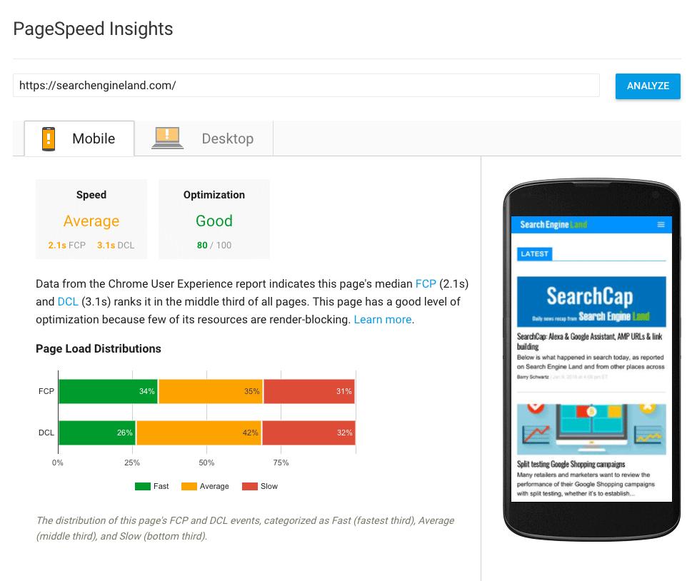 Page Speeds Insights
