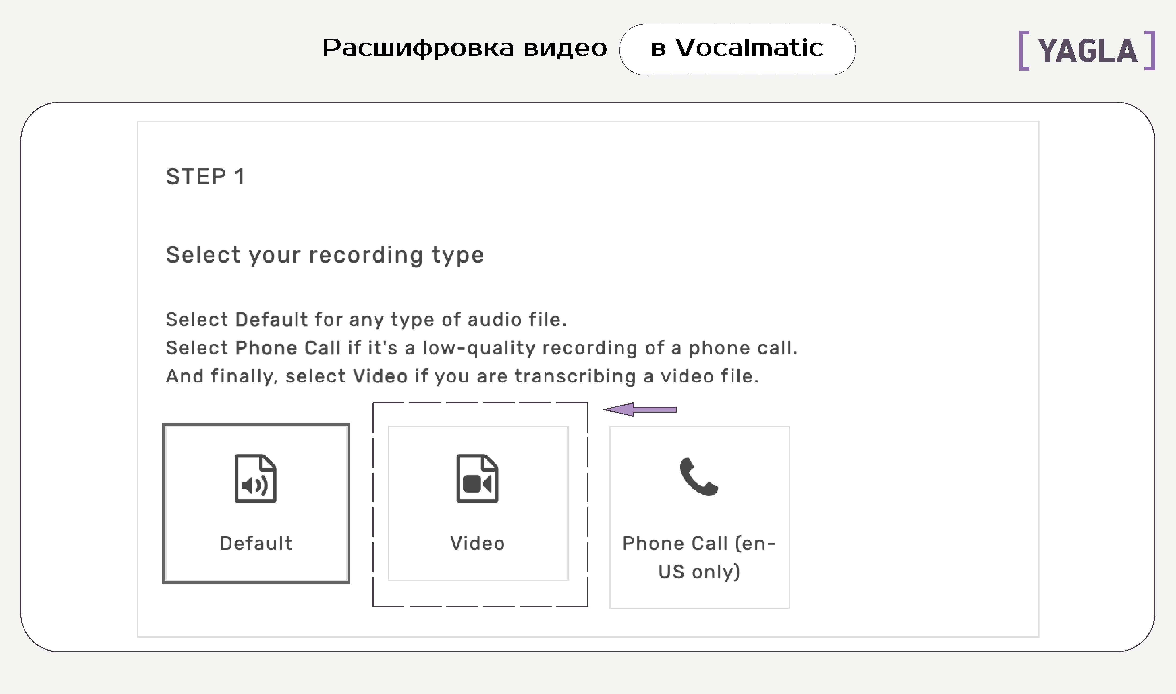 Cервис для перевода аудио в текст Vocalmatic