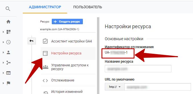 Google Analytics – код отслеживания в Google Аналитике