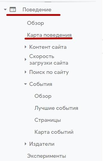 Google Analytics – отслеживание поведения