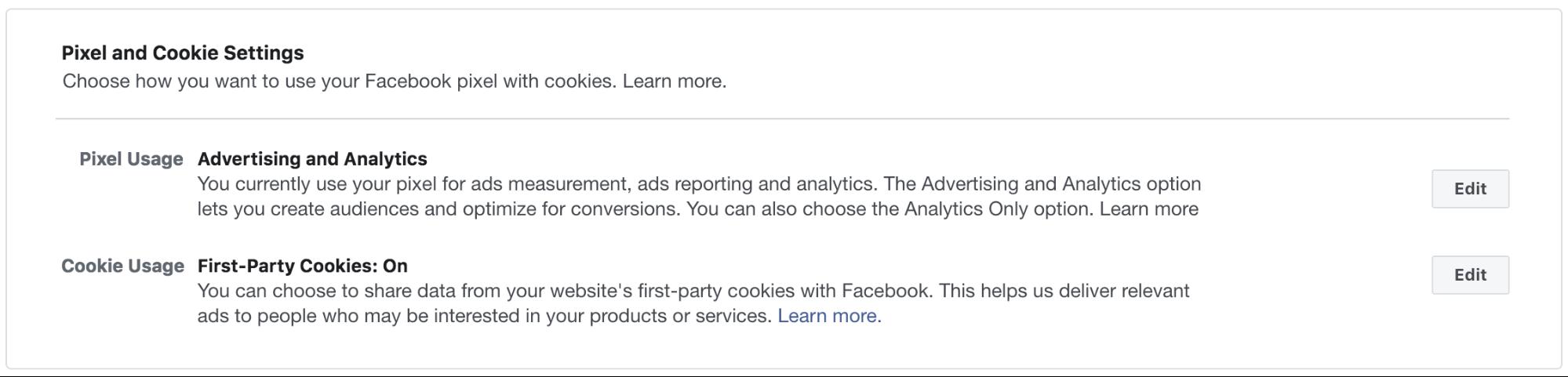 Пиксель Facebook — настройки использования пикселя