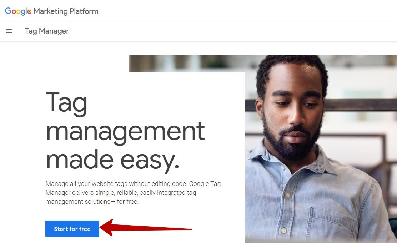 Google Tag Manager – вход