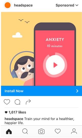 Как настроить рекламу в Instagram – реклама приложения для снятия стресса