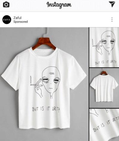 Как настроить рекламу в Instagram – реклама Zaful