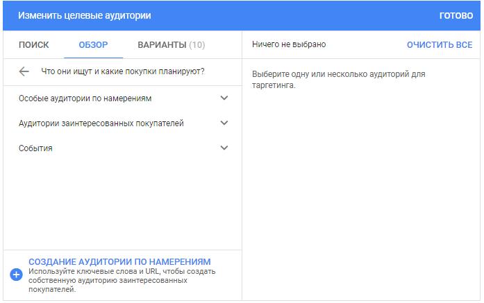 Реклама в контекстно-медийной сети Google – планирование покупок