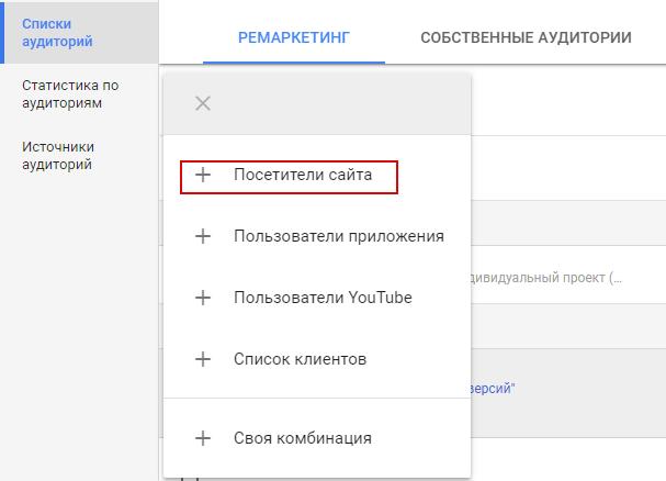 Ремаркетинг Google – типы аудиторий Google Ads