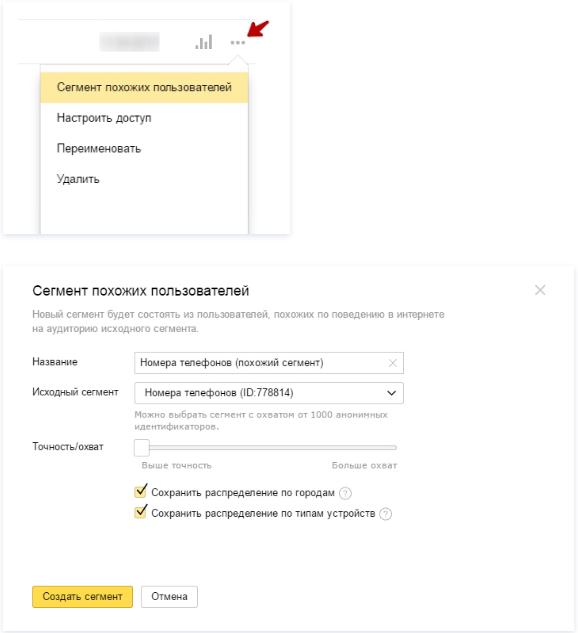 Аудиторный таргетинг – создание похожей аудитории в Яндекс.Аудиториях