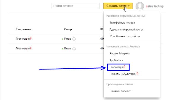 Аудиторный таргетинг – создание сегмента по геолокации в Яндекс.Директ