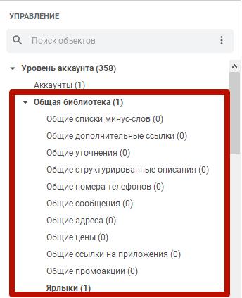 Google Ads Editor – общая библиотека