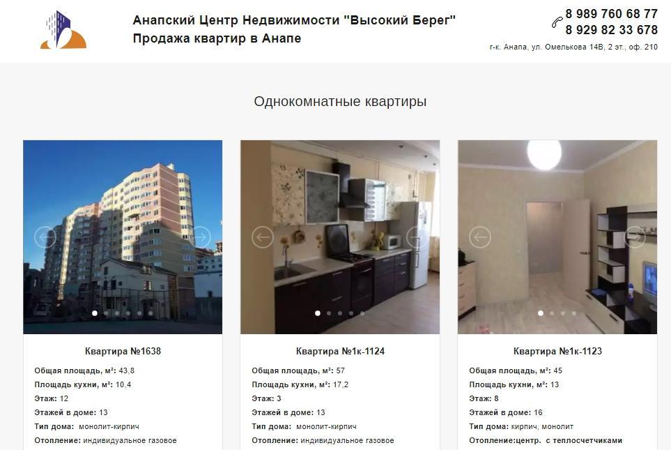 Контекстная реклама в сфере недвижимости — страница каталога