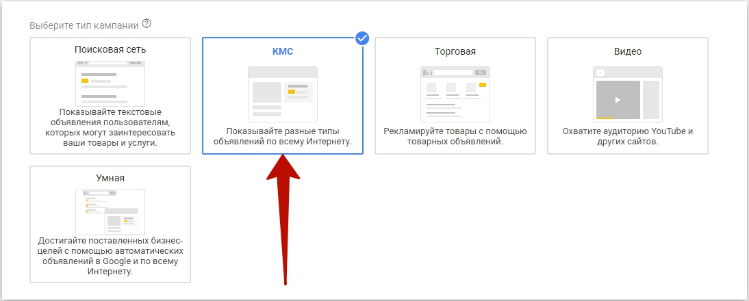 Умные кампании Google – тип рекламной кампании