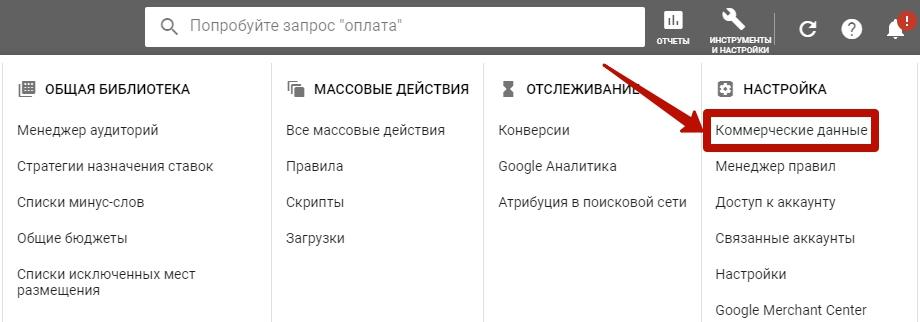 Фиды Яндекс и Google – коммерческие данные