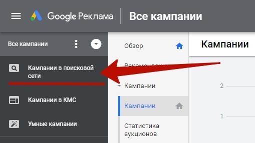 Мобильная реклама Google Ads – кампании в поисковой сети