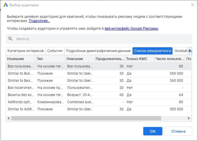 Списки ремаркетинга – списки ремаркетинга в Google Ads Editor