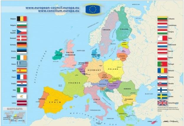 Карта Евросоюза
