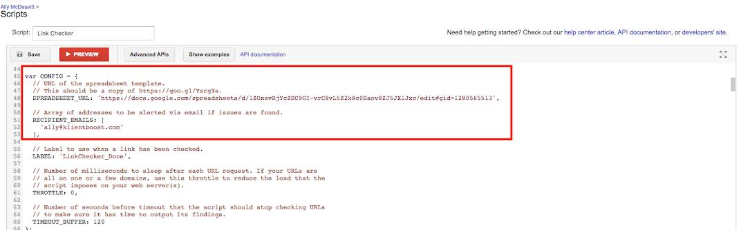 Скрипты Google AdWords — скрипт проверки ссылок